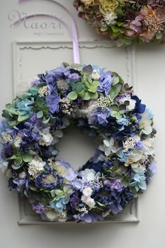 Beautiful blue & white wreath
