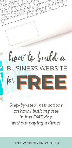How to Build a Business Website for FREE (in ONE Day!) - Business Management - Ideas of Business Management - How to Build a Business Website for FREE Starting A Business, Business Planning, Business Tips, Online Business, Business Opportunities, Business Education, Business Marketing, Business Coaching, Signs For Business