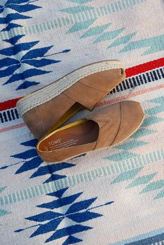 Part statement piece, part simple staple. Toffee Suede Women's Platform Alpargatas from TOMS rises a little above the rest — one and a half inches to be exact.