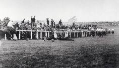 Photograph-Votes for women, Suffragette Protest at 1913 Epsom Derby. As the horses swept round-Photograph printed in the USA Suffragette Colours, Women Suffragette, Society Problems, Epsom Derby, King Horse, History Projects, The Real World, New Pictures, Dolores Park