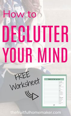 Declutter your mind with a brain dump. Get all those thoughts swirling round in your head down on paper - don't try and remember them. Use my FREE worksheet to help you remember and write down what you don't want to forget. Mom Brain, Brain Dump, Declutter Your Mind, Organize Your Life, Working Night Shift, Home Management Binder, Time Management, Productive Things To Do, Project Board