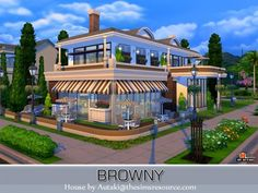 The Sims Resource: Browny Bar and Restaurant by Autaki • Sims 4 Downloads