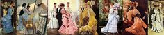 19th century costume paintings by Tissot