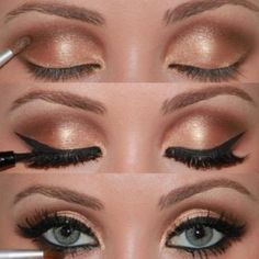 winged eye with a touch of gold/champaign.