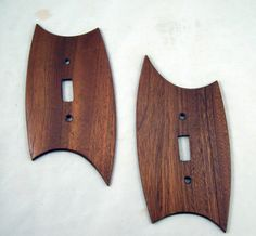 Lovely wooden switch plates