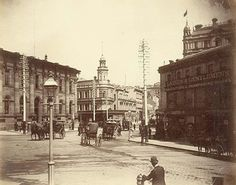 EXCHANGE CORNER, Sydney c1893 (State Library of NSW)