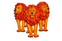 Cód. 107.028 - Trio Leões Laranja Fullway - 87x89x36