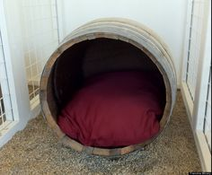 The perfect kennel for the wine lover's pooch, at the Frenchie Winery