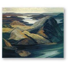 """Grace Lake,"" Franklin Carmichael, oil on canvas, 40 x 48 University of Toronto Art Collection. Emily Carr, Group Of Seven Artists, Group Of Seven Paintings, Maurice Denis, Canadian Painters, Canadian Artists, Paul Cézanne, Edouard Vuillard, Henri Matisse"