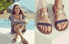 UGG Australia Jordyne Metallic Leather Sandal