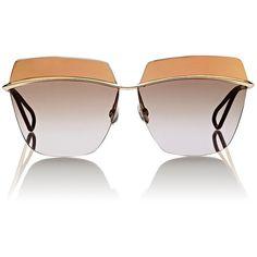 "Dior Women's ""Dior Metallic"" Sunglasses (1120 TND) ❤ liked on Polyvore featuring accessories, eyewear, sunglasses, glasses, multi, logo sunglasses, christian dior sunglasses, cut out glasses, clear sunglasses and christian dior eyewear"