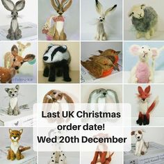 Last order date for Christmas: Needle felting kits and ready made 20th December via Royal Mail. Just pop over to the website (link in bio) or Etsy. Hope you are enjoying the sunshine if you have some... #needlefeltingkit #needlefelting #supporthandmade #supportsmallbusiness #shopchristmas