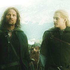 Legolas, Aragorn and Gimli. :)