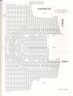 Fabulous Crochet a Little Black Crochet Dress Ideas. Georgeous Crochet a Little Black Crochet Dress Ideas. T-shirt Au Crochet, Crochet Shrug Pattern, Crochet Tunic, Crochet Collar, Crochet Home, Irish Crochet, Crochet Clothes, Crochet Stitches, Crochet Baby