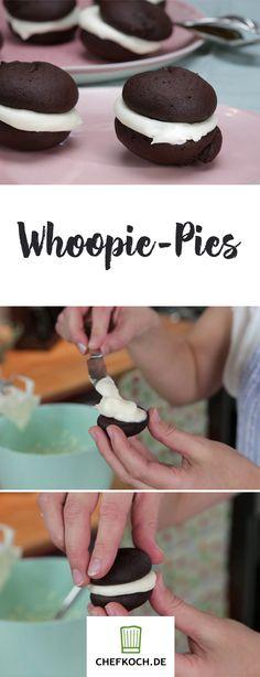 Ja, die schmecken so gut, wie sie aussehen! Wie euch Whoopie-Pies gelingen, seht ihr im Video auf Chefkoch.