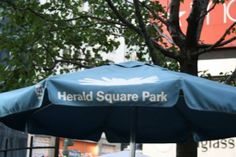 #HeraldSquarePark umbrellas are out!