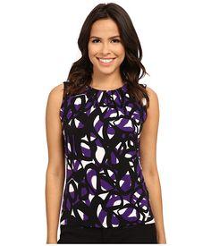 Calvin Klein Calvin Klein  Iman Printed Pleat Neck Cami Night Womens Sleeveless for 25.99 at Im in! #sale #fashion #I'mIn