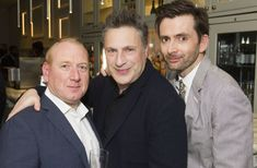 David Tennant, Adrian Scarborough and Author/Director Patrick Marber for Don Juan in Soho