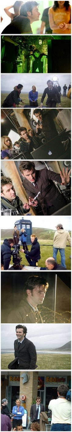 Behind the scenes of New Earth. Click through for interview with David Tennant and Billie Piper. #DoctorWho