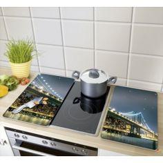 Tapa vitroceramica de cristal universal Brooklyn Bridge. Dale un toque de modernidad a tu cocina, varios diseños.