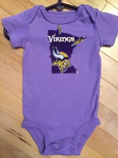 b13fdfe9e Minnesota Vikings Baby Girl Onesie ~ Size 9 Months ~ Upcycled ~ Carter's ~  Skol Vikings