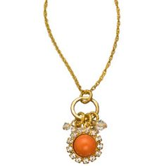 Where can I buy Orange Caboche and Swarovski Crystal Charm Necklace