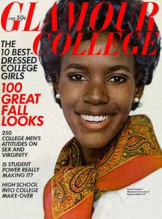 Glamour: August 1968  Katiti Kironde was a winner of Glamour's Top 10 College Women competition. She was the first black woman to be on the cover of a major women's magazine.
