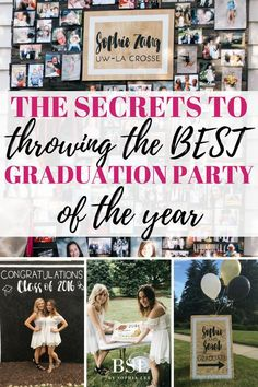 If you are looking for graduation party ideas you have to look at this post!! It gave me SO many graduation party ideas high school when planning my graduation party, especially graduation party ideas for girls!