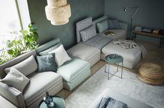 VALLENTUNA 5-zitsbank | #IKEA #IKEAnl #modulair #inspiratie #stijlen #styling #woonkamer #bank #kleuren