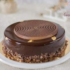 Royal au chocolat Mini Desserts, Concorde, Tartelette Mojito, Cremeux Caramel, Mirror Glaze Cake, Mirror Cakes, Unique Cakes, Mousse Cake, Food Art