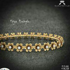 Elegance is not standing out, but being remembered. India Jewelry, Gold Jewelry, Fine Jewelry, Diamond Bangle, Diamond Jewellery, Jewelry Patterns, Gold Bangles, Boho, Wedding Jewelry