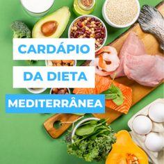 Cardápio da Dieta Mediterrânea | Vagando na Net Ethnic Recipes, Food, Mediterranean Diet, Sedentary Lifestyle, Essen, Meals, Yemek, Eten