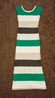Everything Springer A to Z: Refashion Savvy--Striped maxi dress made from old t-shirts! Link to tutorial in post.