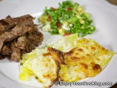 Recipe for Scalloped Potatoes with Parmesan