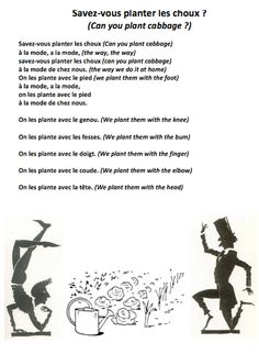 1000 images about french songs chansons en fran ais on for Planter en anglais