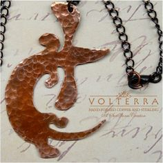 Hand Forged Copper Dachshund Pendant | love the doxie exuberance!