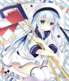 white hair blue eyes pointy ears sundress Anime pictures and wallpapers search