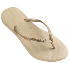 Havaianas Limited Edition Gold with Single Swarovski Crystal on Thong