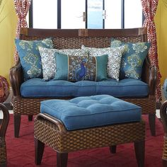 I find this furniture style very appealing for our living room! Temani Settee - Brown