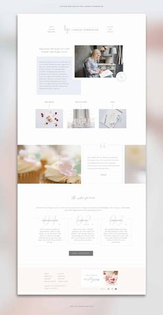 i sort of like the asymetry on the home page, along with the categories under. just general layout of page. design website Business Branding and Website Design for Wedding Cake Designer Layout Design, Website Design Layout, Logo Design, Web Layout, Brand Design, Design Design, Interior Design Website, Blog Layout, Design Model