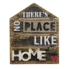 """There's No Place like Home"" Textual Art Plaque"
