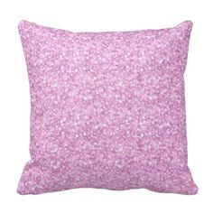 Elegant Pastel Pink Glitter & Sparkles Throw Pillow