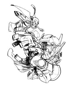 Vision and Ultron by Eric Canete