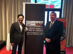 Hon. Yasir Naqvi, MPP (Ottawa Centre) and OCMS interim executive director Peter MacDonald at the Celebrate Ontario press event at the National Arts Centre. Ottawa Chamberfest received $300,000 in funding: one of five area festivals to be recognized at this level. We are extremely grateful to the people of Ontario for their generous ongoing support. Congratulations to the other recipients! #ChamberMusic #ChamberFestival