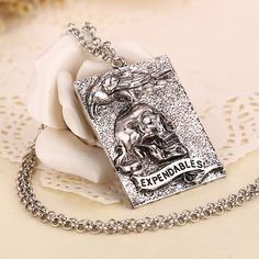 Stallone death skull and crow logo tattoo pendant jewelry for men ...