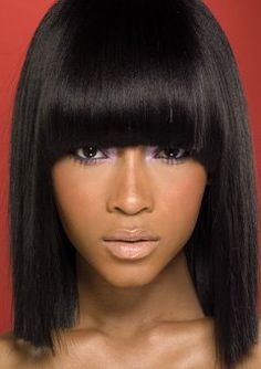 black hairstyles.....I love this modern day Cleopatra look