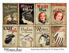 Salón de belleza / cabello / salón ATC ACEO por MasterpieceDesigns