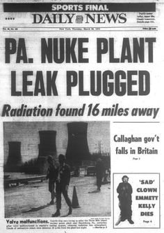 Three Mile Island nuclear plant has a partial meltdown in 1979