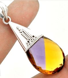 Ametrine Pendant .925 Sterling Silver  20.10 Cts. Starting at $1
