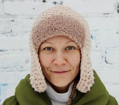 Original knit ear flap hat/Warm wool knit ear flap hat/Hand